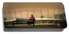 Vancouver Stadium In A Golden Hour Portable Battery Charger