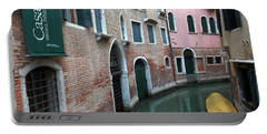 Venetian Streets -canals. Carlo Galdoni Museum Portable Battery Charger