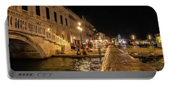 Venice At Night. San Marco Portable Battery Charger