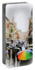 Venice In The Rain Portable Battery Charger