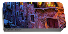 Venice Windows At Night Portable Battery Charger