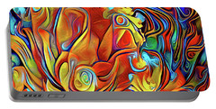 Portable Battery Charger featuring the digital art Vibrancy by Missy Gainer