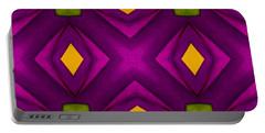 Vibrant Geometric Design Portable Battery Charger