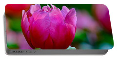 Vibrant Pink Peony Portable Battery Charger