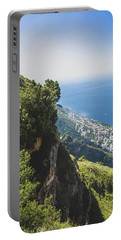 View Of Amalfi Italy From Path Of The Gods Portable Battery Charger