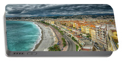 View Of Nice France From Castle Hill Portable Battery Charger