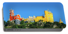 View Of Pena National Palace, Sintra, Portugal, Europe Portable Battery Charger