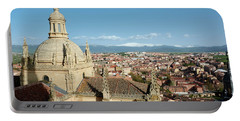 View Of Segovia From The Cathedral - Spain Portable Battery Charger