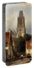 View Of The Church Of Zaltbommel Portable Battery Charger