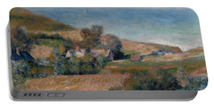 View Of The Seacoast Near Wargemont In Normandy, 1880 Portable Battery Charger