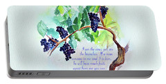 Vine And Branch With Scripture Portable Battery Charger