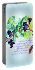 Vine And Branch With Scripture - Vertical Portable Battery Charger