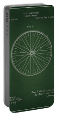 Portable Battery Charger featuring the drawing Vintage Bicycle Tire Patent by Dan Sproul