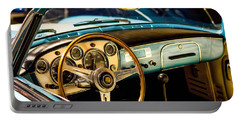 Vintage Blue Car Portable Battery Charger