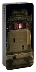 Vintage Chicago Bridge Tower At Night Portable Battery Charger