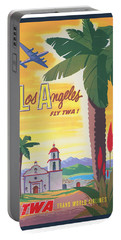 Vintage Los Angeles Twa Travel Poster Portable Battery Charger