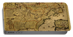 Vintage Map Of French America 1719 Portable Battery Charger
