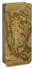 Vintage Map Of North America 1858 Portable Battery Charger