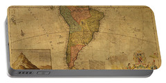 Vintage Map Of South America 1715 Portable Battery Charger