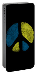 Portable Battery Charger featuring the digital art Vintage Peace Sign by Flippin Sweet Gear