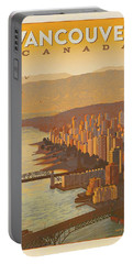 Vintage Vancouver, Bc Canada Travel Poster - Circa 1950's Portable Battery Charger