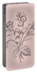 Violet Blush Pink Flower Portable Battery Charger