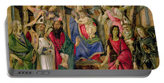 Virgin And Child With Saints From The Altarpiece Of San Barnabas, Portable Battery Charger
