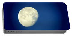 Portable Battery Charger featuring the photograph Virgo Moon Three Quarters by Judy Kennedy