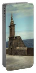 Virxe Da Barca Church In Muxia - Bell Gable Portable Battery Charger