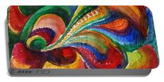 Vivid Abstract Watercolor Portable Battery Charger