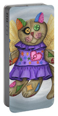 Voodoo Empress Fairy Cat Doll - Patchwork Cat Portable Battery Charger
