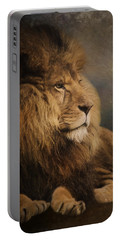 Portable Battery Charger featuring the painting Wait For The Answer - Wildlife Art by Jordan Blackstone