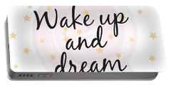 Wake Up And Dream - Baby Room Nursery Art Poster Print Portable Battery Charger