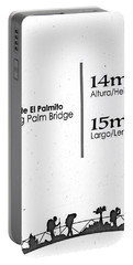 Walking Palm Bridge Sign Portable Battery Charger