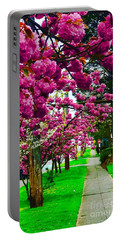 Walking Through Blossoms Portable Battery Charger