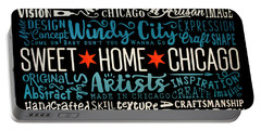 Wall Art Chicago Portable Battery Charger