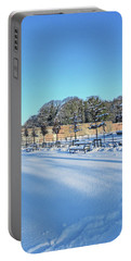 Walled Garden Winter Landscape Portable Battery Charger
