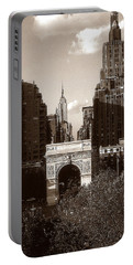 Washington Arch And New York University - Vintage Photo Art Portable Battery Charger