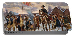 Washington At Valley Forge Portable Battery Charger