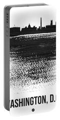 Washington, D.c. Skyline Brush Stroke Black Portable Battery Charger