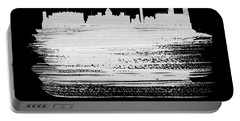 Washington, D.c. Skyline Brush Stroke White Portable Battery Charger