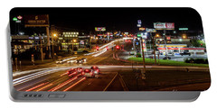 Washington Road At Night - Augusta Ga Portable Battery Charger