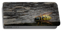 Wasp On Wood Portable Battery Charger