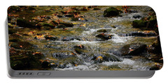 Portable Battery Charger featuring the photograph Water Navigates The Rocks by Raymond Salani III