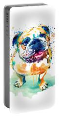 Watercolor Bulldog Portable Battery Charger
