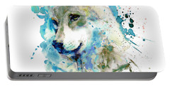 Watercolor Wolf Portrait Portable Battery Charger