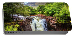 Waterfall Beneath The Ben Nevis Mountain Portable Battery Charger