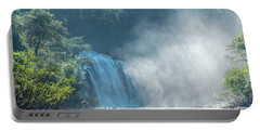 Waterfall, Sunlight And Mist Portable Battery Charger