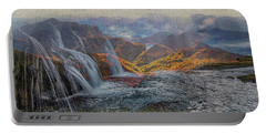 Waterfalls In The Mountains Portable Battery Charger