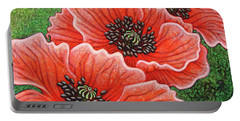 Portable Battery Charger featuring the painting Watermelon Wonderment by Amy E Fraser